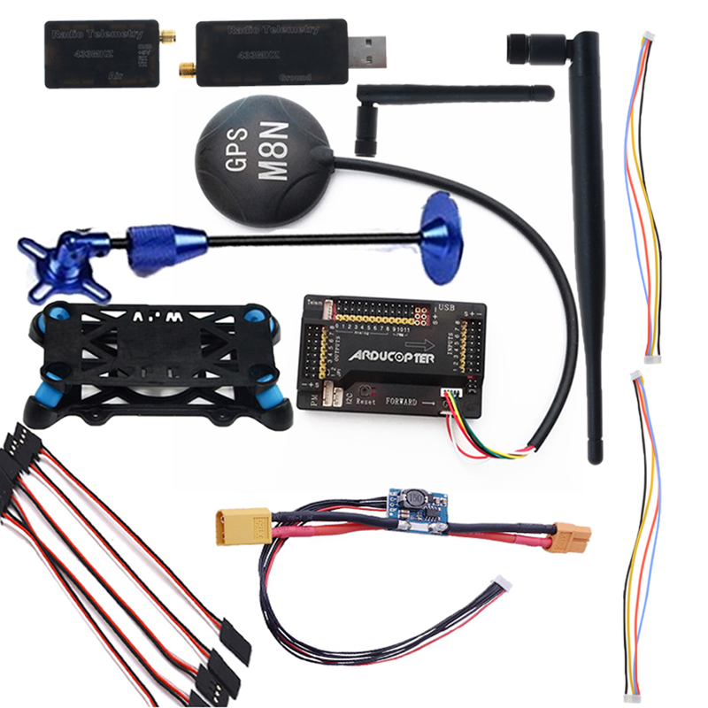 APM 2.8 Multifunction Flight Controller Board Flight Control with M8N GPS 3DR Radio Telemetry Module 433MHz 3dr power module apm2 2 5 apm flight controller ardupilot mega apm2 6 f