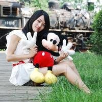 Free Shipping 2014 Hot Sale New 3 70CM 1PCS American Lovely Mickey Mouse And Minnie Mouse