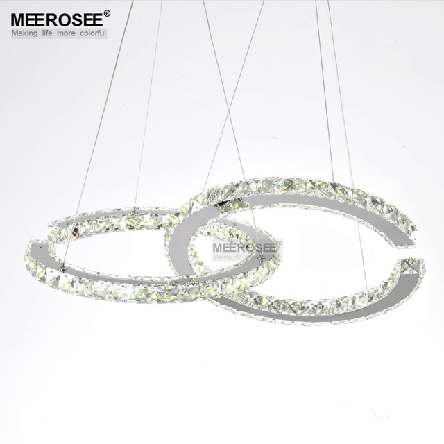 Aliexpress buy wholesale led crystal chandelier two c circels wholesale led crystal chandelier two c circels chandeliers light fixture led crystal lighting hanging fitting for aloadofball Gallery