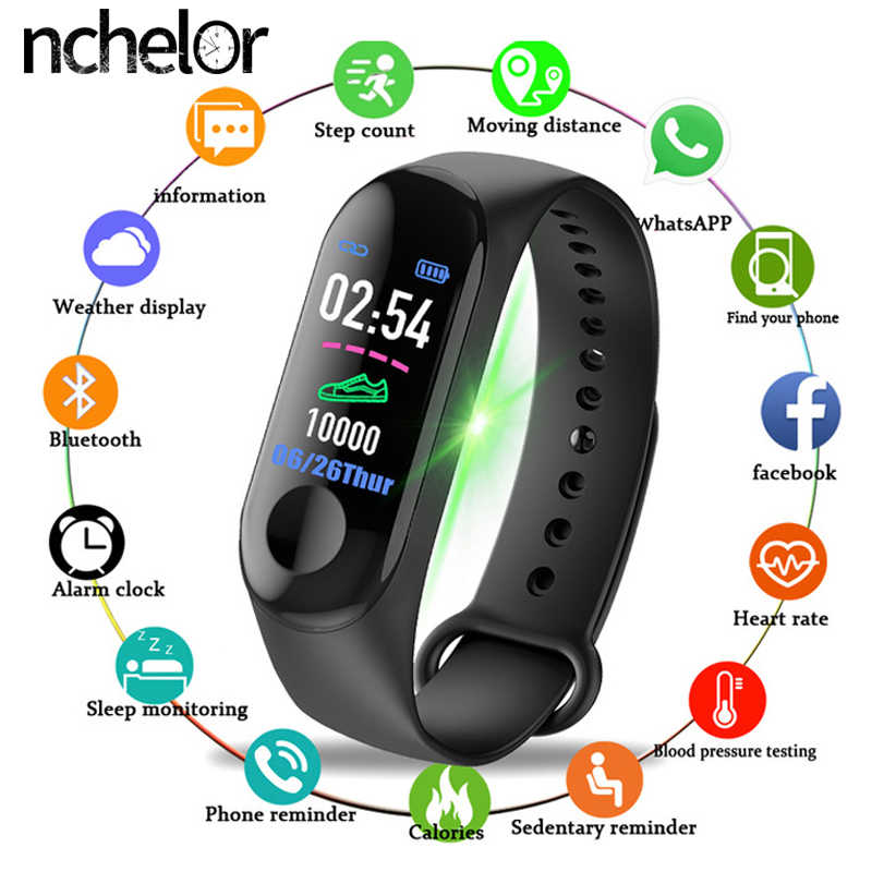 New Ladies Men's Sports Watch Bracelet Bluetooth Smart Heart Rate Fitness Tracker Waterproof Smart Bracelet