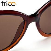 TRIOO Women Sunglasses Myopia Cat Eye Prescription Sun Glasses Women UV400 Protection Oculos Degree Graduate Eyewear Diopter