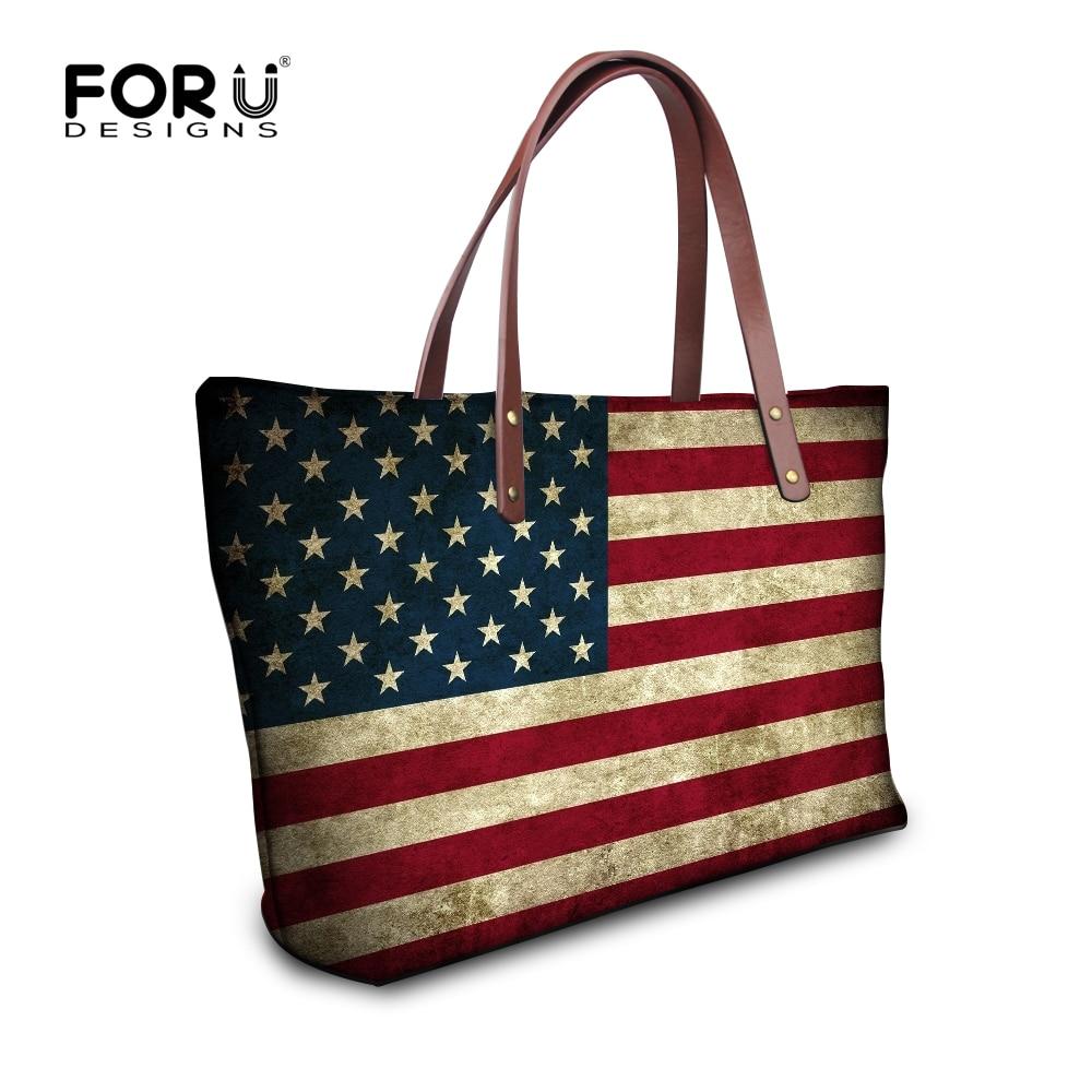 European And American Fashion Shoulder Bags Trendy Uk Flag Printed Female Bag Stripes Las Large Capacity Bolsa Feminina In Top Handle From