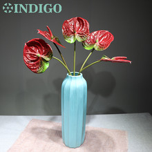 5pcs/lot Anthurium - Plastic Real Touch Display Flower Wedding Calla Latex Home Decoration Table Wholesale