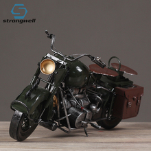 Strongwell Motorcycle Iron Art Antique Retro Hand-Made Craft Military War  Model Office Coffee Bar Decoration