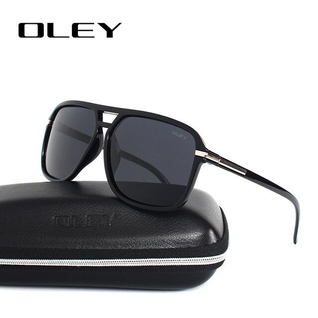OLEY Vintage oversized Sunglasses Men brand designer women Polarized Sun Glasses for man shades large spectacles culos de sol 6