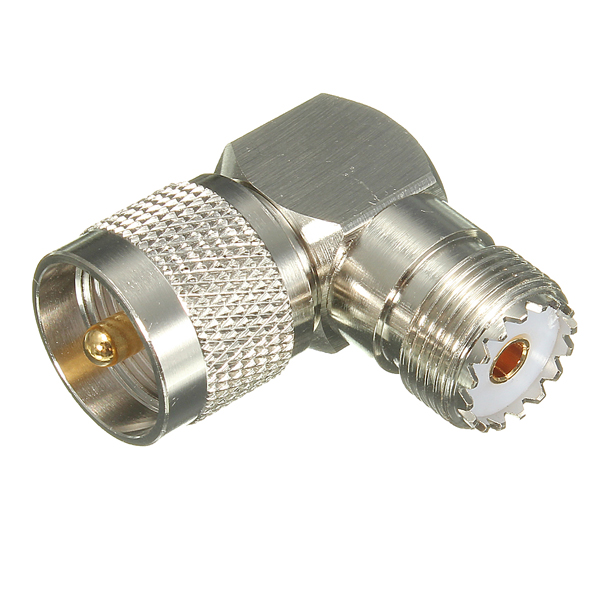1PC Right Angle 90 Degree UHF Plug Male PL259 to SO239 Female Jack Adapter Connector plug elbow right angle 3 5mm male to female audio connector 90 degree adapter gold plated free shipping