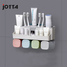 Toothpaste rack toothbrush artifact automatic squeeze toothpaste squeezer wall-mounted bathroom set