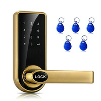 Electronic Door Lock Smart Touch Screen Password + Key + Card Triple Zinc Alloy Touch pad Password locks for Home Hotel Office