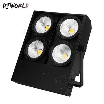 2 pçs/lote 4x100W 4 Olhos LED Blinder Luz COB Fresco E Warm White LED de Alta Potência Profissional iluminação de palco Para A Festa de Dança