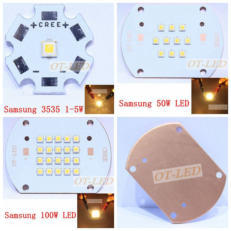 3535 Samsung 1-5W 50W 100W Led Warm White 3000-3200K High Power LED Multichip Light Lamp with Cooper PCB