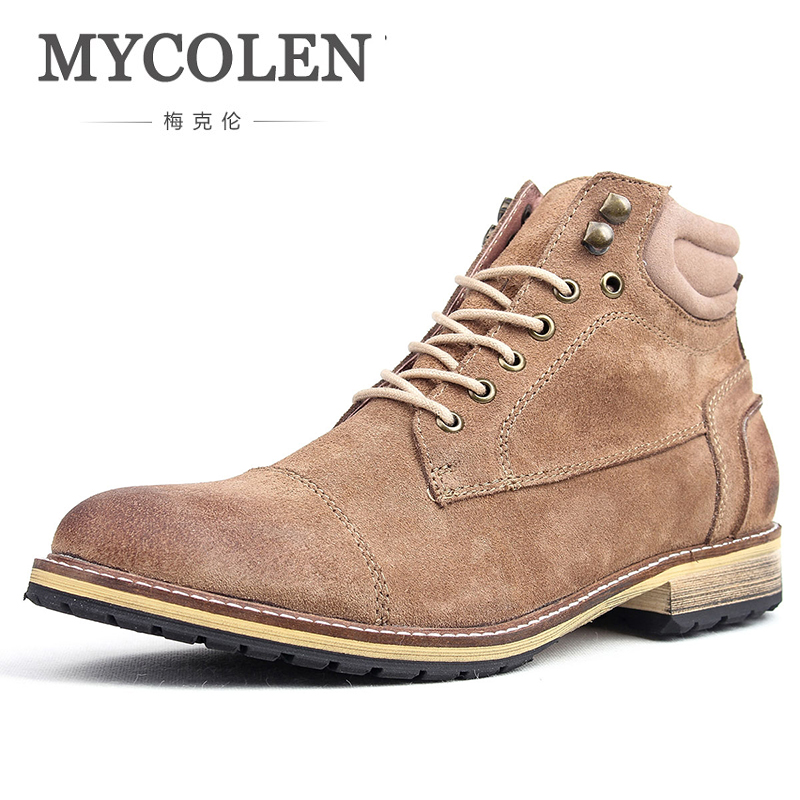MYCOLEN New Autumn/Winter Stylish Handsome High-Tops MenS Shoes Luxury Product Casual Outdoor Skid Trendy ManS BootMYCOLEN New Autumn/Winter Stylish Handsome High-Tops MenS Shoes Luxury Product Casual Outdoor Skid Trendy ManS Boot