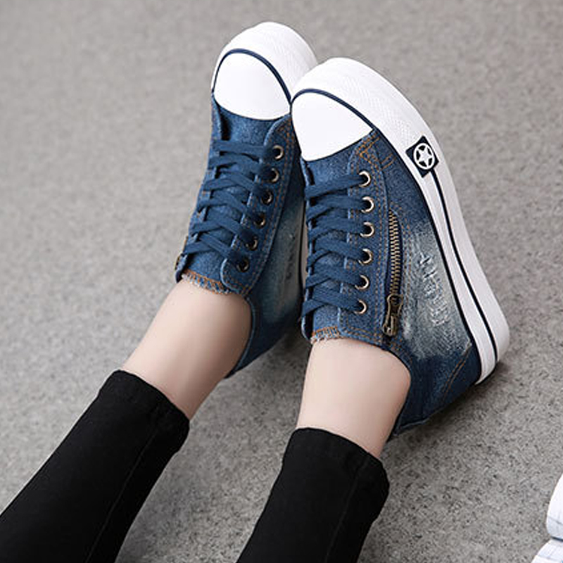2018 Women Fashion New Canvas Shoes Lace-Up Breathable Women Casual Shoes Leisure Ladies Summer Sneakers CBT995