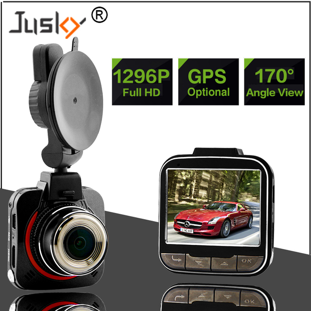 Jusky Ambarella A7LA50 Car DVR GS52D Car Camera Full HD 1296P 170 Degrees Wide Angle with G-Sensor Dash Cam with optional GPS