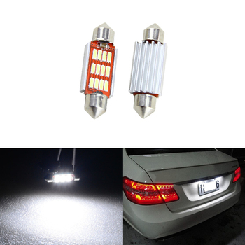 Pack CAN-bus 36MM C5W 6418 White Car Led Number License Plate Light Bulbs For Benz W211 W203 W210 W212 W209 W169 W208 AMG image