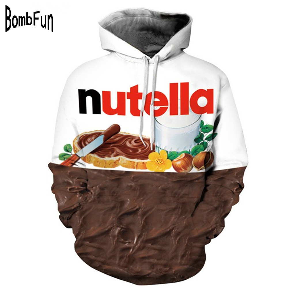 Nutella Pattern Men&Women Hoodies Couples Casual Style 3d Print Hoodie Hip Hop Autumn Winter Sweatshirts Hoody Tracksuits Tops