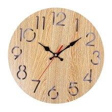 7a45431dc ساعات الحائط الخشبية ديكور المنزل الكرتون الحديثة الخشب ساعة حائط خمر ريفي  العتيقة رث الرجعية المنزل
