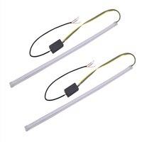 led white car Ultra-fine car DRL LED daytime running light white turn signal yellow guide bar for headlight assembly landing transport (5)