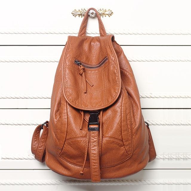 New Designer Washed Leather Bag High-grade Leather Women Backpacks Mochilas Mujer School Backpack for Girls Travel Bag Rucksack
