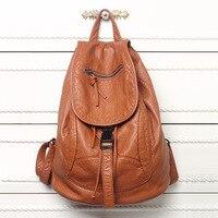 New Designer Washed Leather Bag High grade Leather Women Backpacks Mochilas Mujer School Backpack for Girls Travel Bag Rucksack