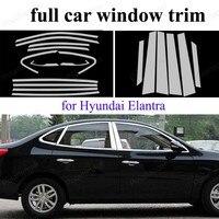 Exterior Accessories Stainless Steel full Window Trim For H-yundai Elantra  with center pillar Decoration Strip