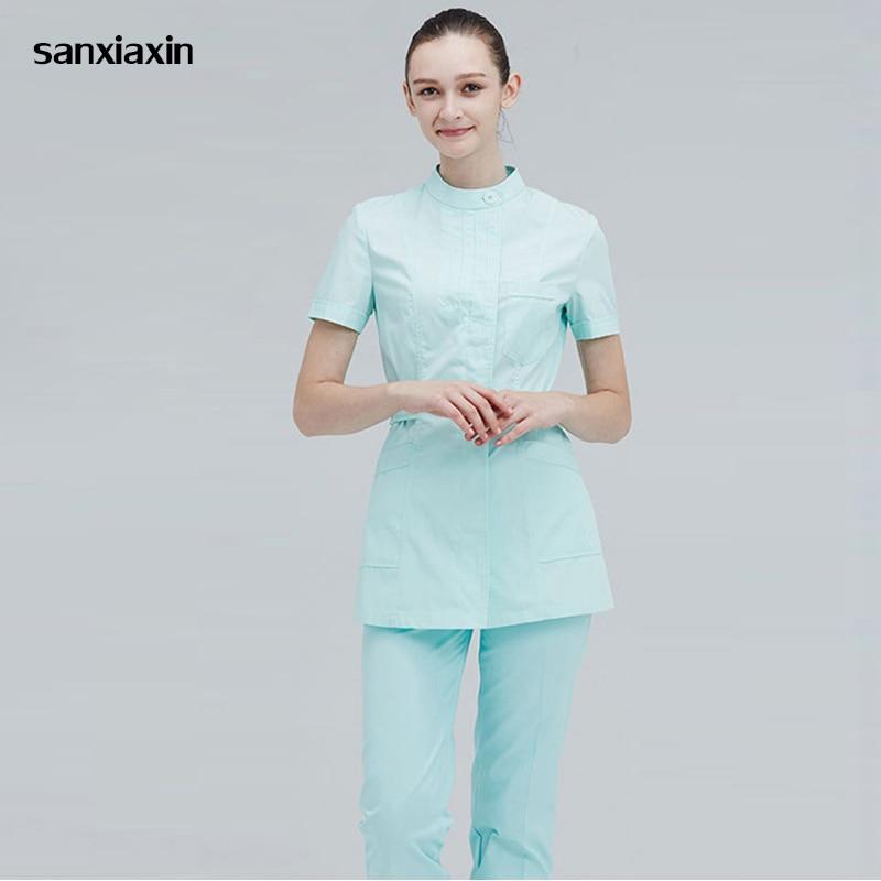 Sanxiaxin New Summer Short Sleeve Ladies Hospital Clinic
