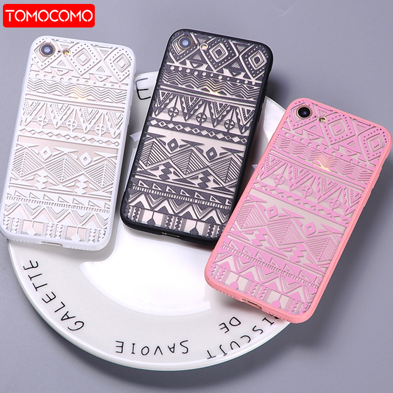 TOMOCOMO Sexy Fashion Lace Boho Indian Floral Tribal Pattern Soft Clear Phone Cover Case Coque For iPhone 7 7Plus 6 6S 6Plus 5S