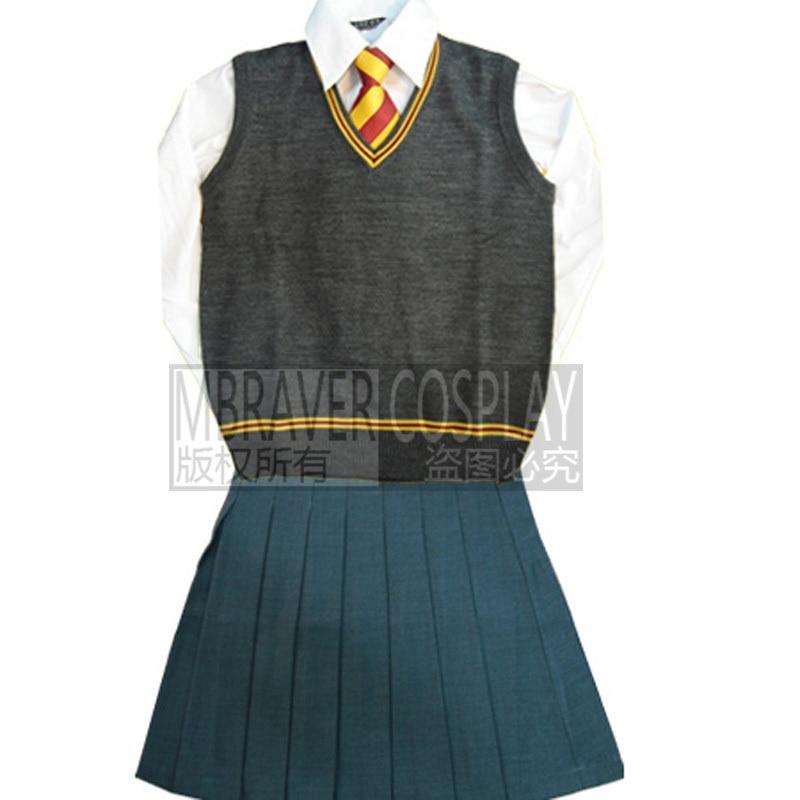 Gryffindor Hermione Cosplay Skirt Uniform Custom Made