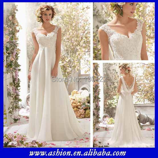 We 2200 Free Shipping Elegant Lace Top Flowing Chiffon Fall Casual Wedding Dresses Country Style In From Weddings Events On Aliexpress