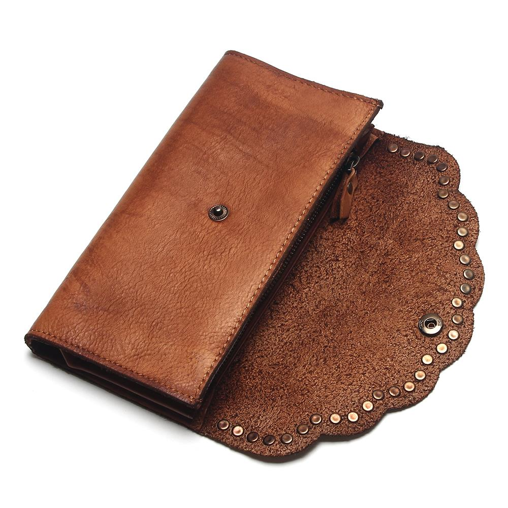 Image 4 - TAUREN Brush Color Clutch Anchor Nail Genuine Leather Women 