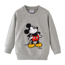 Baby Children Winter Clothes Tees for Boys Cartoon Print Cotton T shirt New Style Long Sleeve Tops
