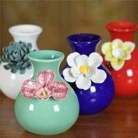 뜨거운 판매 현대 세라믹 꽃병 조각 도자기 꽃병 홈