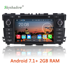 Android 7.1  2G RAM Car DVD multimedia Player GPS map Wifi RDS Radio BT DVR camera TV OBD For Nissan Teana Altima 2013 2014 2015