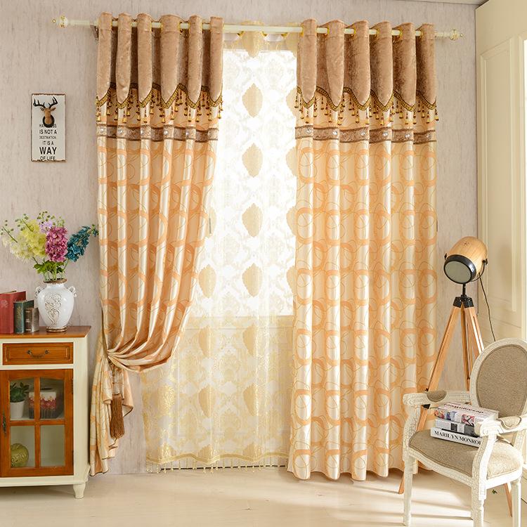 lento alma caf oro prpura simple moderna tela de la cortina cortina dormitorio sala de estar