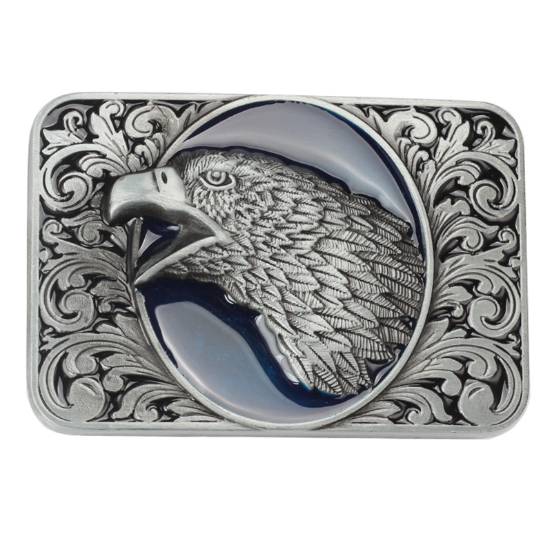 The Bottom Of The Flower Open The Mouth Of The Eagle Belt Buckle