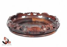 Special rosewood carving annatto handicraft circular base of real wood of Buddha stone are recommended vase furnishing articles