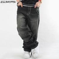 Baggy Jeans Men Wide Leg Denim Pants Hip Hop 2019 New Fashion Wings Embroidery Skateboarder Jeans Street Hiphop Men