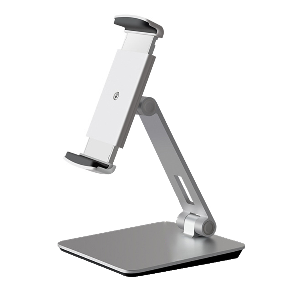 Universal Smartphone & Tablet Stand Aluminum Alloy Desk Mount Holder 360 Degreen Bracket Replacement for iPad iPhone
