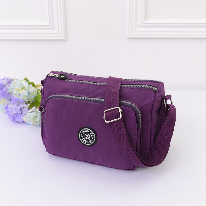 5e8da236d Venda quente Bolsa de Ombro Casual-Bag Mulheres bolsa Saco do mensageiro  das Mulheres de Nylon À Prova D' Água Sacos de Viagem Bolsas estilo