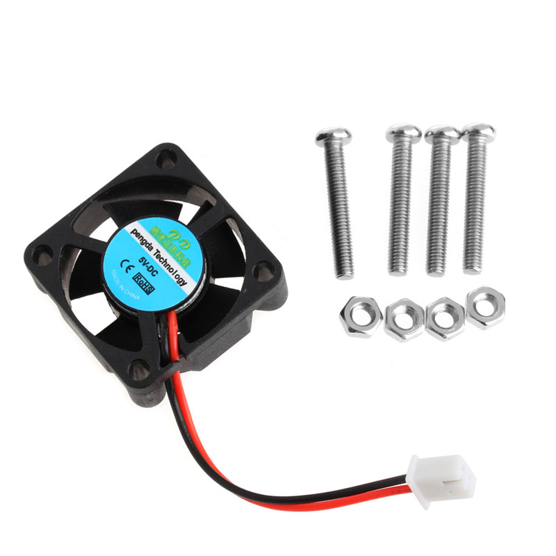 OOTDTY 1 PC Fan Cooling Fan CPU with Screws Raspberry Pi 2/3 Model Support B/B+ Shell New
