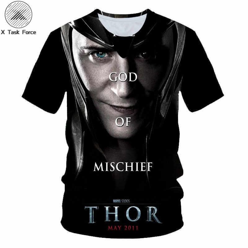 Mode cool t-shirt hommes/femmes marvel Avengers Thor le monde sombre Loki impression 3D t-shirts style Harajuku t-shirt haut
