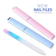 Kit de ferramentas de manicure para unhas, 1 peça de lixas de vidro de cristal durável, dispositivo de manicure, decorações, ferramenta de lixar, bloco de unhas de pedicure