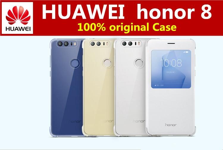 imágenes para 100% oficial original huawei honor 8 caja de la PC + PU Del Tirón Del Cuero cubierta Del Caso para HUAWEI honor 8 (5.2 pulgadas) casos carcasa Para honor8