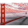 Картина по номерам DIY, Прямая поставка, 40х50, 50х65 см, красные Золотые ворота, мост, пейзаж, холст, свадебное украшение, художественное изображе...