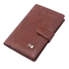PU Leather Passport Cover Men Travel Wallet Credit Card Holder Cover Russian
