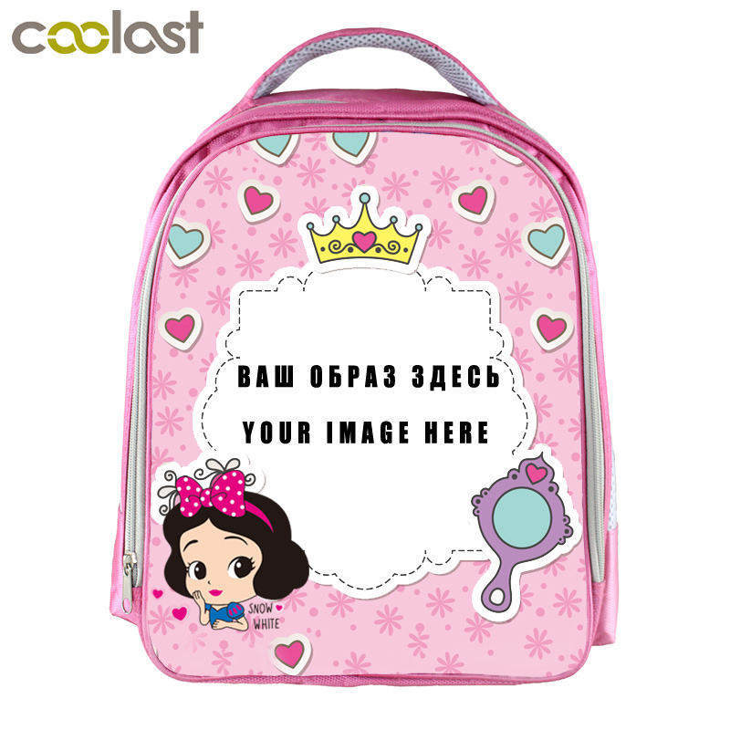 Custom Your Image Logo Name Backpack for Girls Kindergarten Backpack Children School Bags Girls Pink Bookbag - Personalized Backpack For Kindergarten