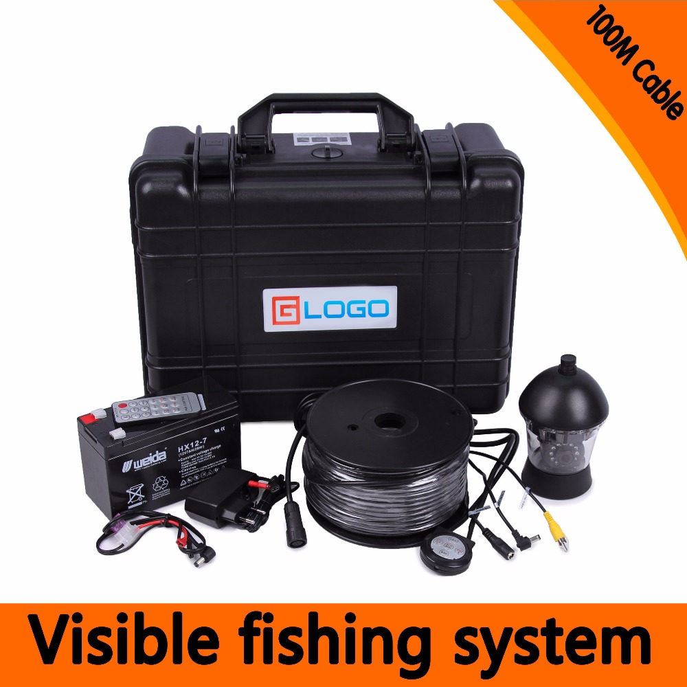 (1 Set)100M Cable 360 Degree Rotative camera with 7inch TFT-LCD Display and HD 1000 TVL line Underwater Fishing Camera system 1 set 50m cable 360 degree rotative camera with 7inch tft lcd display and hd 1000 tvl line underwater fishing camera system