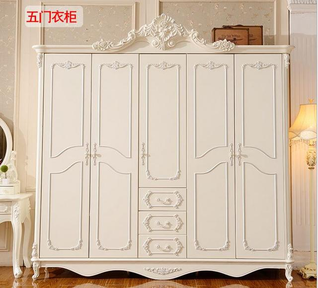 Bedroom Armoire Ikea French Bedroom Chairs Bedroom Room Interior Design Bedroom Armoires: Solid Wood Carved French White Wardrobe Closet Bedroom