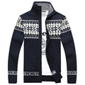 Winter Mens Cardigan 2016 New Men's Casual Sweaters Warm Zipper Men Cardigan Stand Collar Knitted Sweaters 3 Color MY031
