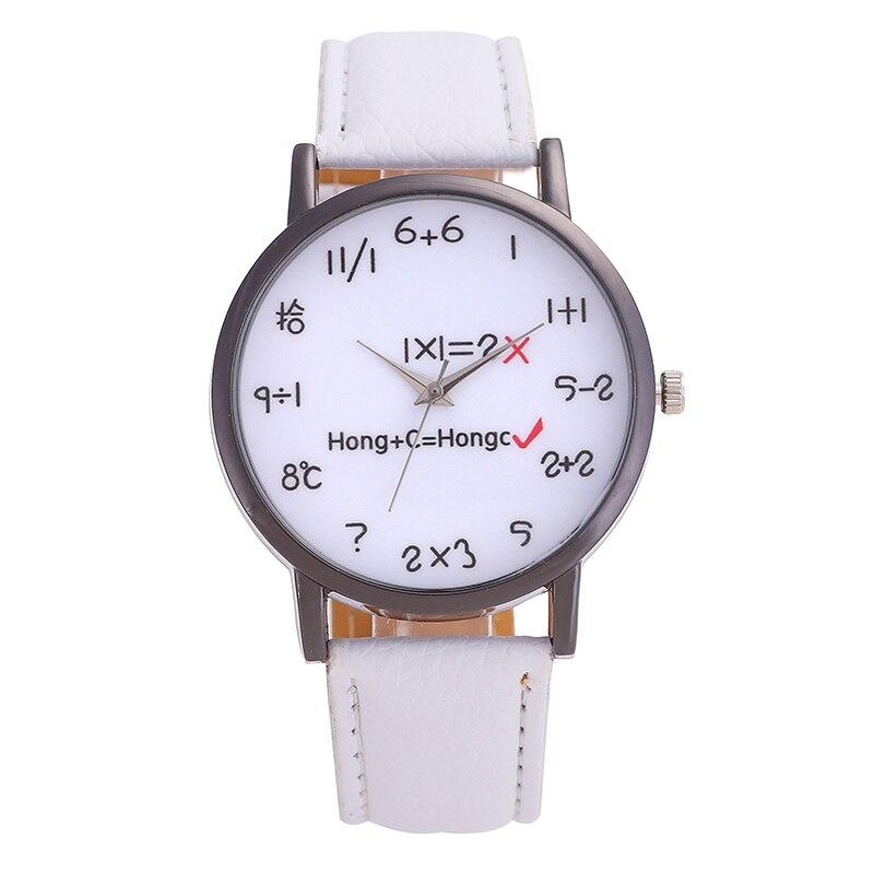 New Fashion Brand Watch Men Stainless Steel Dial Women Watches Mathematical Formula Pointer Luxurious Wrist Watch