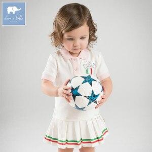 Image 1 - DB7614เดฟเบลล่าเด็กสาวกีฬาชุดเด็กทารกเด็กวัยหัดเดินผ้าฝ้าย100%เสื้อผ้าเด็กฤดูร้อนน่ารักลูกเล่นชุด